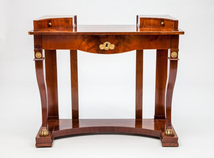 Danish Neoclassical Style Gilt-Metal-Mounted Mahogany Dressing Table