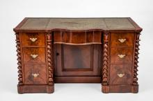 Early Victorian Mahogany Pedestal Desk