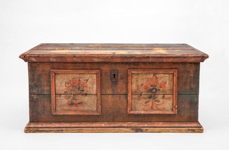 Continental Polychrome Painted Blanket Chest, 19th/20th Century