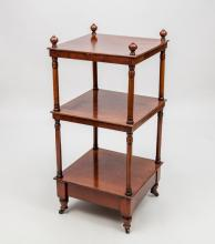 Victorian Mahogany Three-Tier What-Not