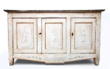 Swedish Neoclassical White Painted Side Cabinet
