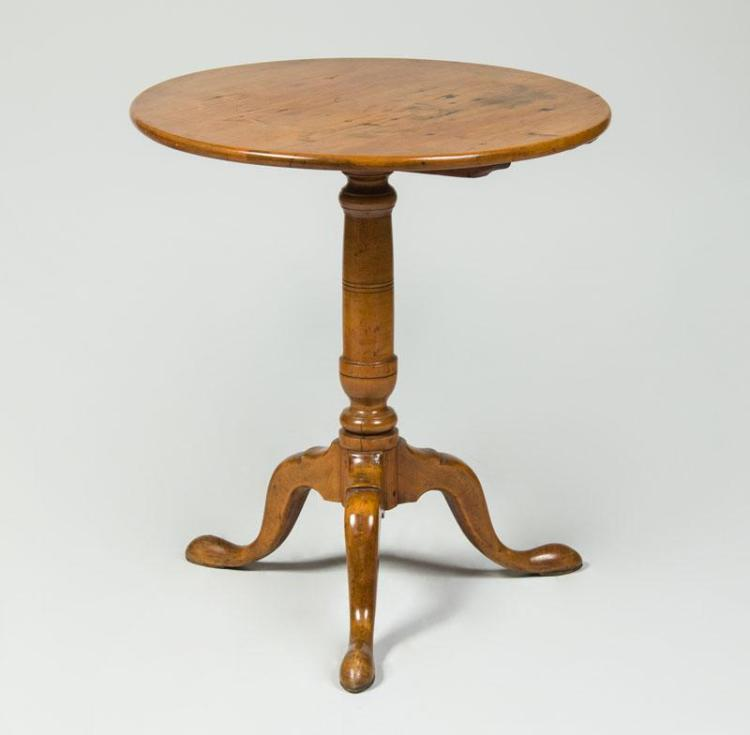 Chippendale Style Maple Tripod Table