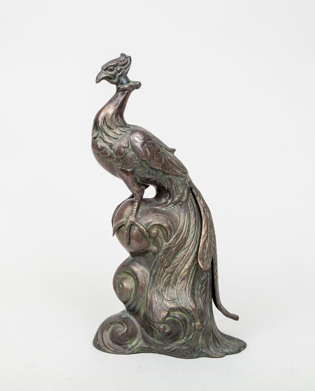Bronze Patinated Figure of a Peacock