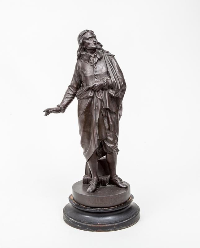 Bronze Patinated Figure of John Milton (1608-1674)