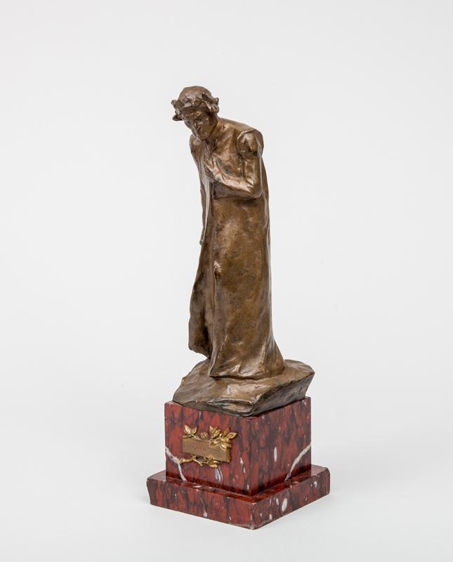 Bronze Figure of Durante degli Alighieri (aka Dante, 1265-1321)