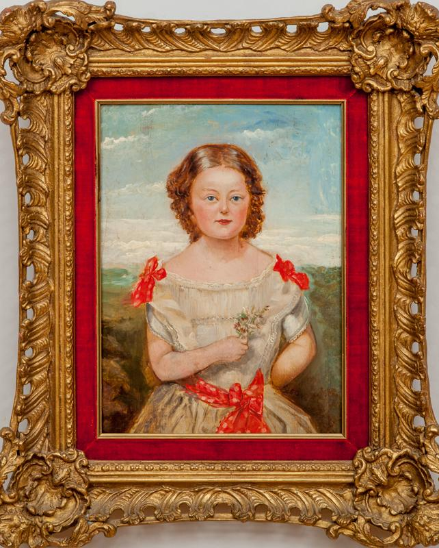 American School: Portrait of A Girl with Red Bows