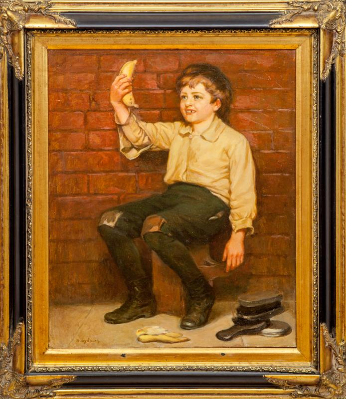 European School: Shoeshine Boy with Banana