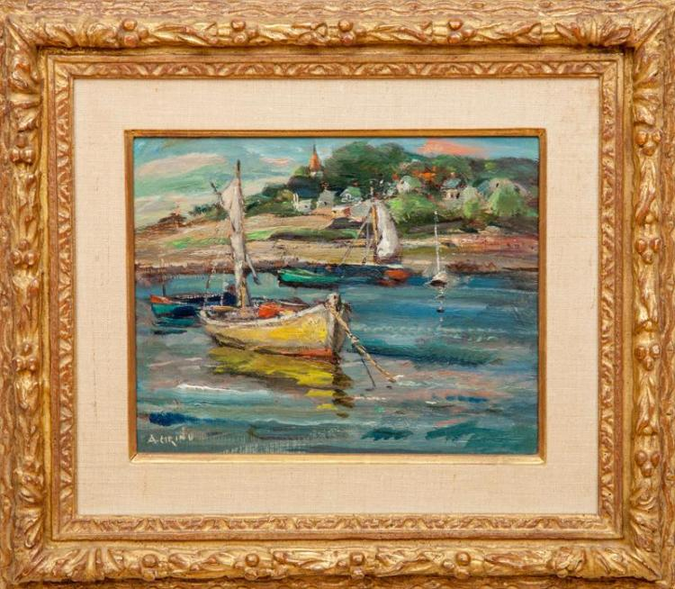 Antonio Cirino (1889-1983): Rockport Harbor; and Village Church