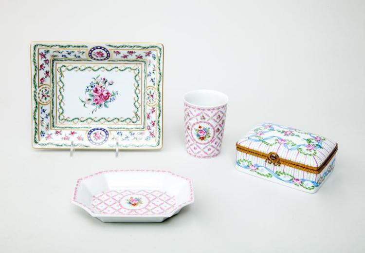 Four Limoges Porcelain Articles