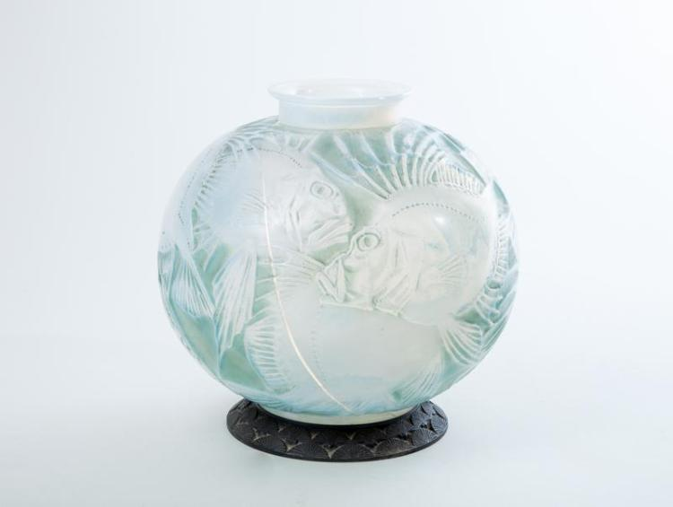 Art Deco Molded Opalescent Glass