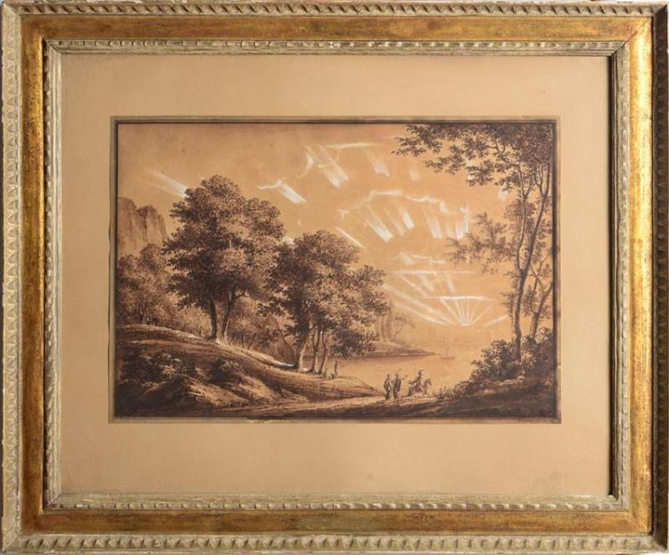 French School: Landscape with Figures