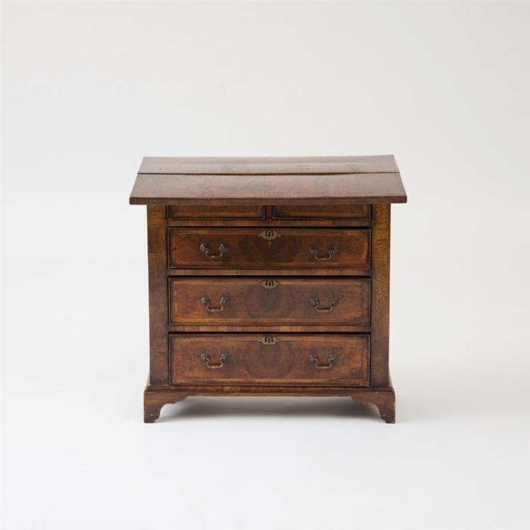 DIMINUTIVE GEORGE I WALNUT BACHELOR'S CHEST