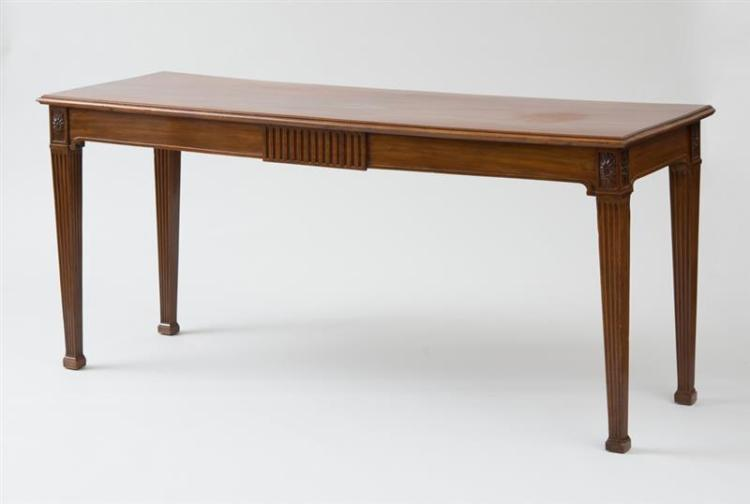 GEORGE III CARVED MAHOGANY SERVING TABLE