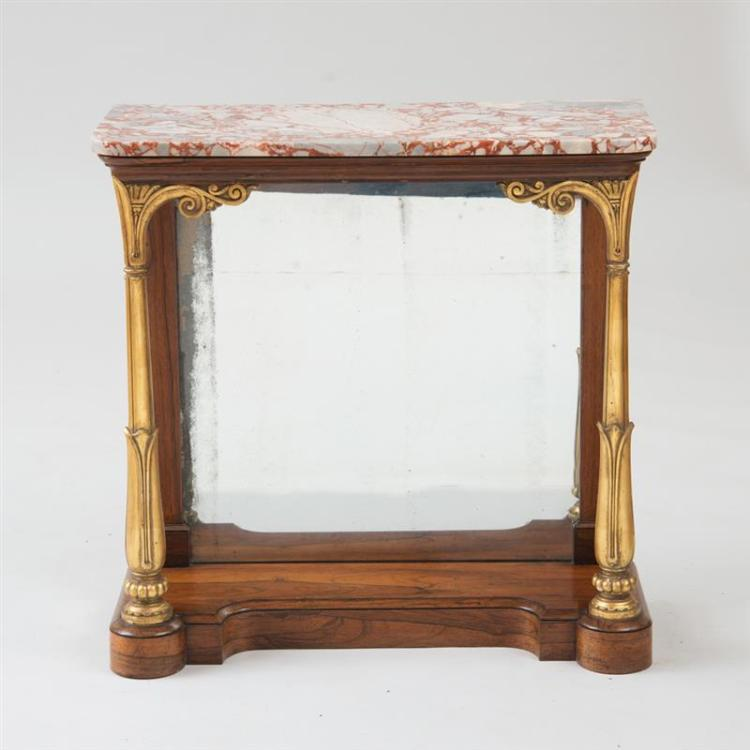 WILLIAM IV ROSEWOOD AND PARCEL-GILT CONSOLE TABLE