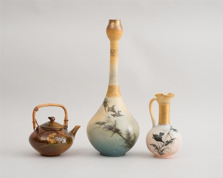 THREE ROOKWOOD POTTERY ARTICLES