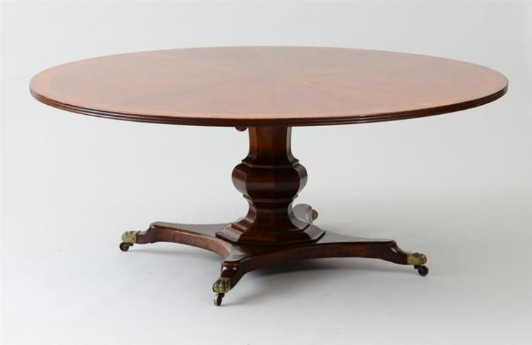 VICTORIAN MAHOGANY AND WALNUT CENTER TABLE