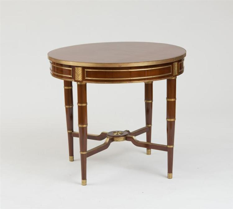 RUSSIAN NEOCLASSICAL BRASS-MOUNTED MAHOGANY CENTER TABLE