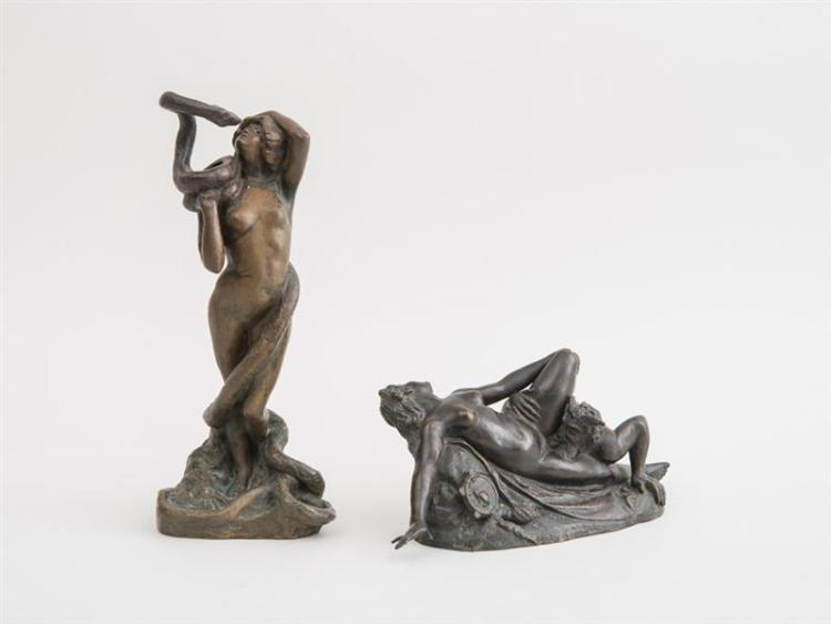 CLARA HILL: NUDE MAIDEN ENCIRCLED BY A SERPENT