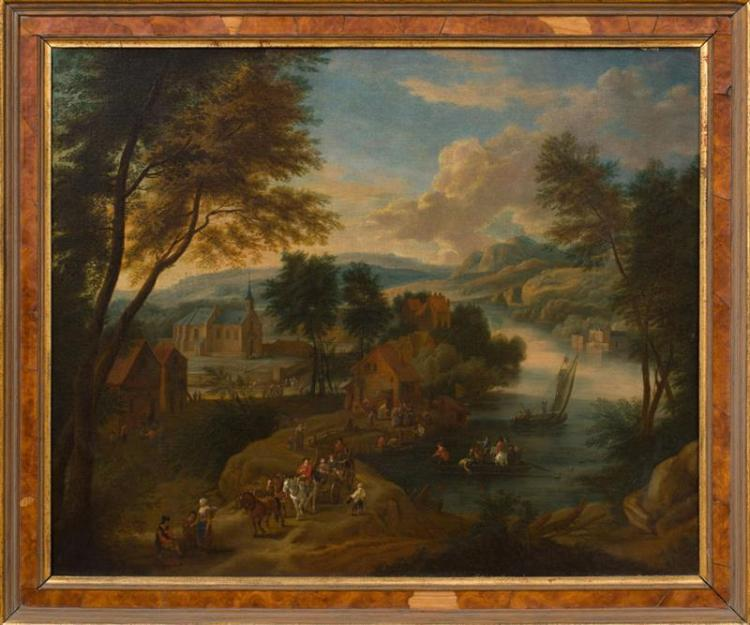 ATTRIBUTED TO THEOBALD MICHAU (1676-1765): AN EXTENSIVE LANDSCAPE