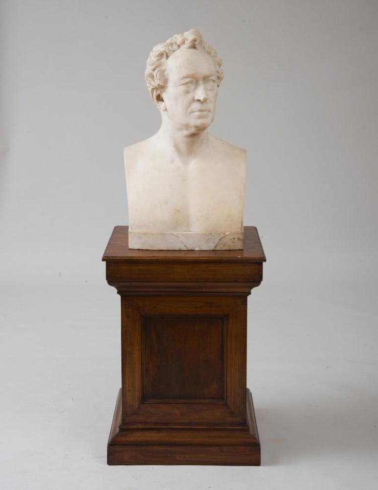 ATTRIBUTED TO OR AFTER THOMAS BALL (1819-1911): BUST OF EDWARD EVERETT