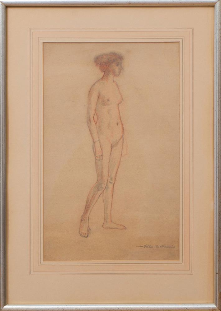 ARTHUR BOWEN DAVIES (1862-1928): STANDING FEMALE NUDE