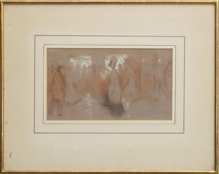 ATTRIBUTED TO PAUL CÉSAR HELLEU (1859-1927): FIGURE STUDIES