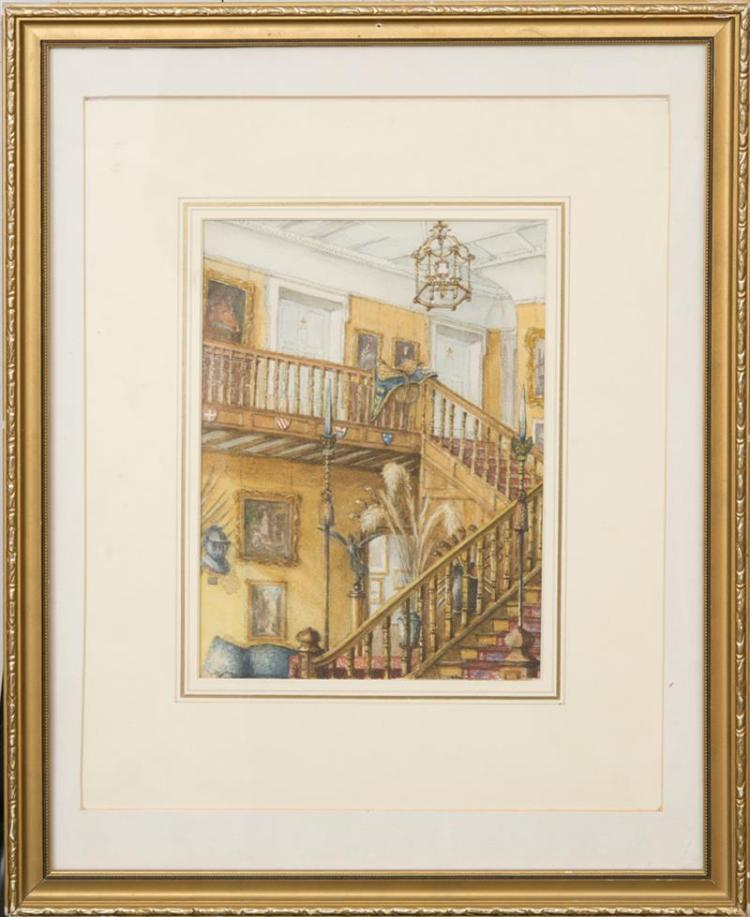 HAROLD MALET: THE HALL AND STAIRS, RACKETTS
