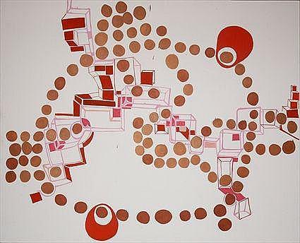 JOANNE GREENBAUM (b. 1953): UNTITLED (COPPER AND