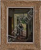 Hans Tiel (Late 19th/Early 20th C.): Interior with Figure, Hans  Tiel, Click for value