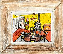 Edmund Yaghjian (1903-1997): Interior Scene