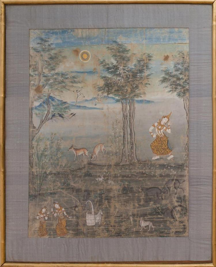 THAI SCHOOL: SCENE FROM RAMAYANA