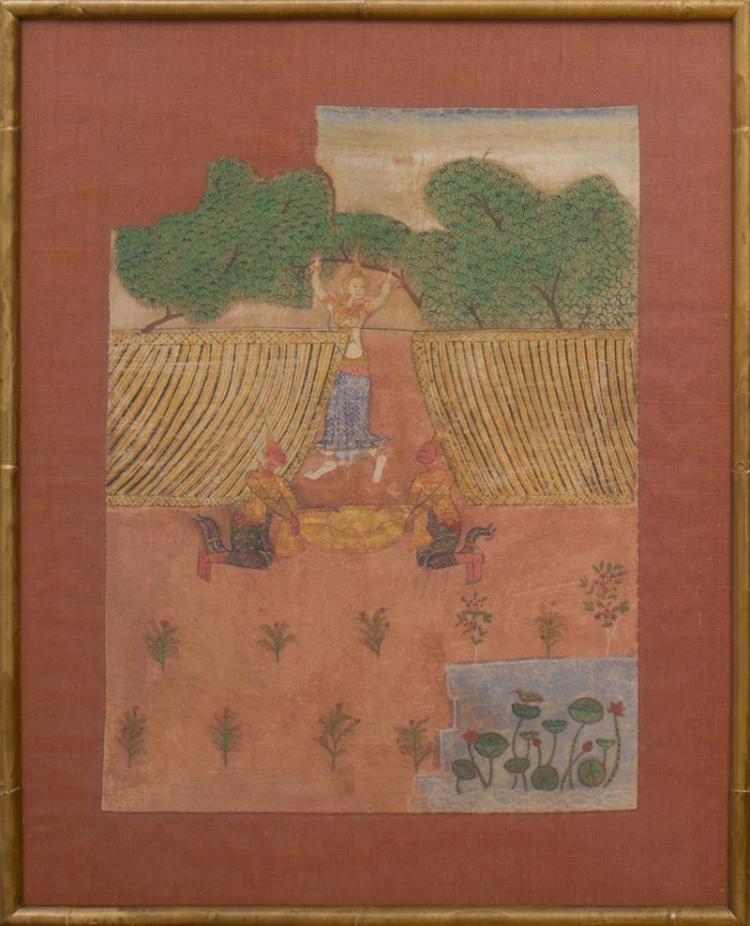 THAI SCHOOL: BIRTH OF BUDDHA, WITH QUEEN MARA