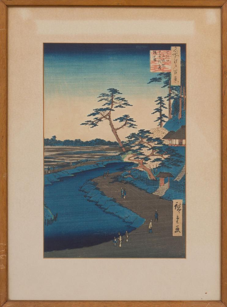 UTAGAWA HIROSHIGE (1796-1858): A VIEW OF JASUIBATA IN TOKYO