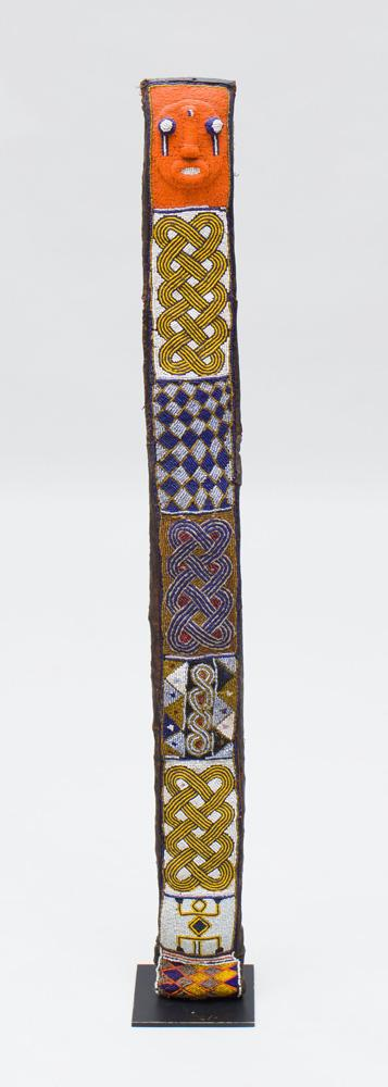 YORUBA BEADED EWU ORISHA OKA (HERBALISTS STAFF SHEATH)