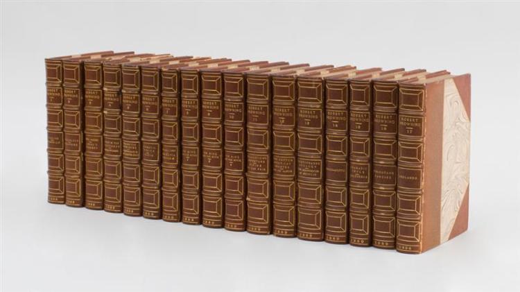 ROBERT BROWNING, POETICAL WORKS, 17 VOLUMES