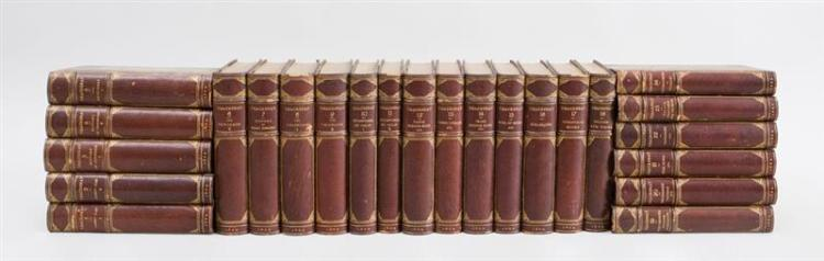 WILLIAM THACKERAY, THE WORKS, 24 VOLUMES