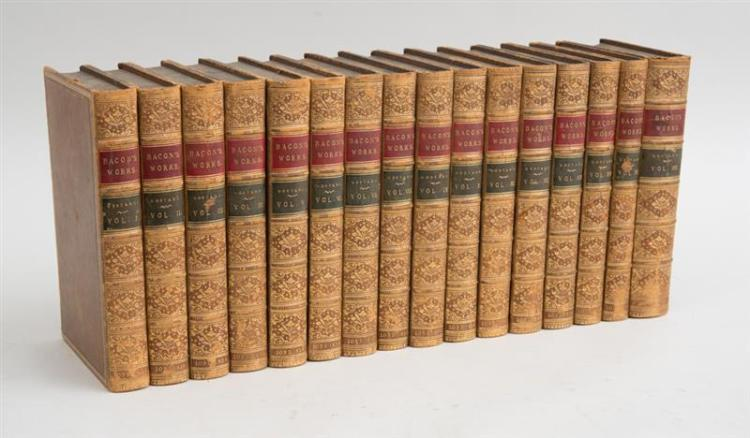 BASIL MONTAGU, THE WORKS OF FRANCIS BACON, 16 VOLUMES
