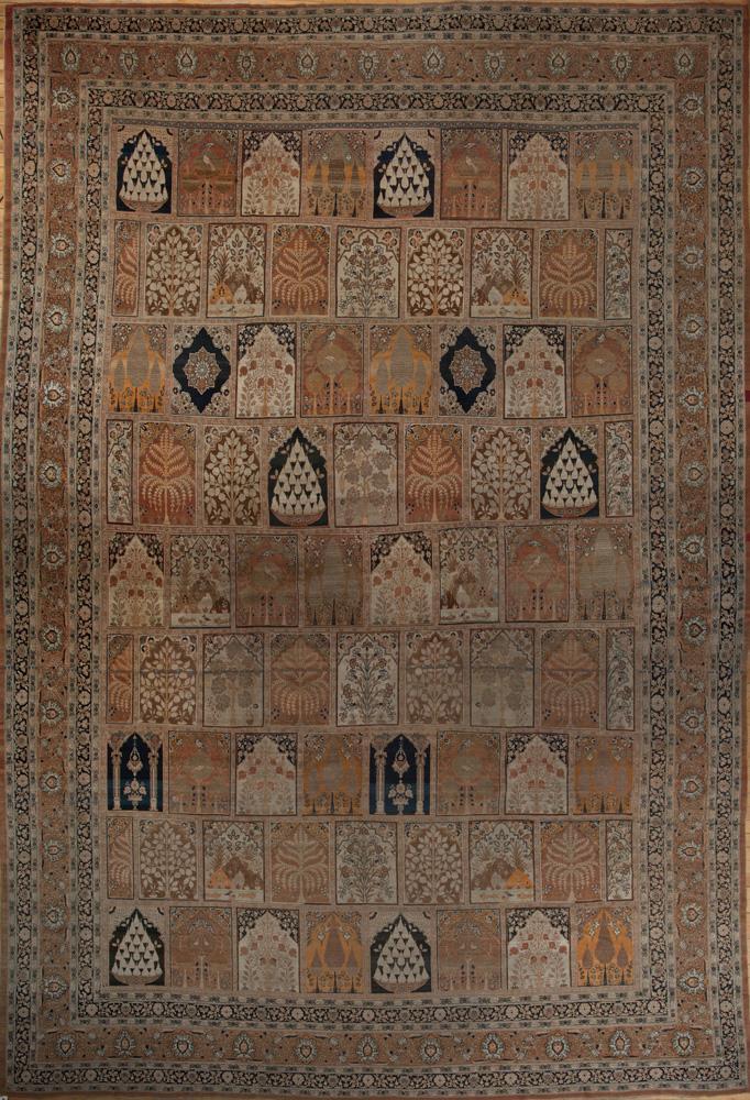 FINE PERSIAN TABRIZ GARDEN CARPET