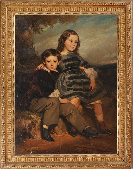 EDOUARD DUBUFE (1819/20-1883): SIBLINGS