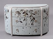FRENCH ART DECO PAINTED AND SILVER-GILT COMMODE