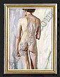 HENRIETTE WYETH (1907-1997): FEMALE NUDE Oil on, Henriette Wyeth, Click for value