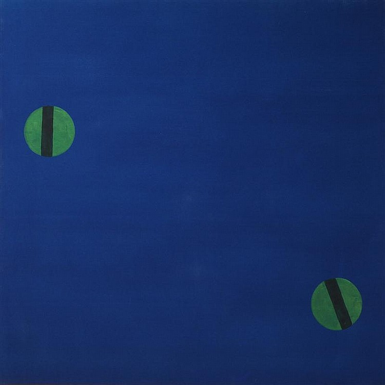 EDWARD AVEDISIAN (1936-2007): FLYING LUCK (GREEN & BLUE)