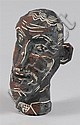MICHAEL LUCERO (b.1953): UNTITLED (BROWN AND BLACK HEAD), Michael Lucero, Click for value