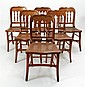 Set of Six American-Classical Bird's Eye Maple Side Chairs