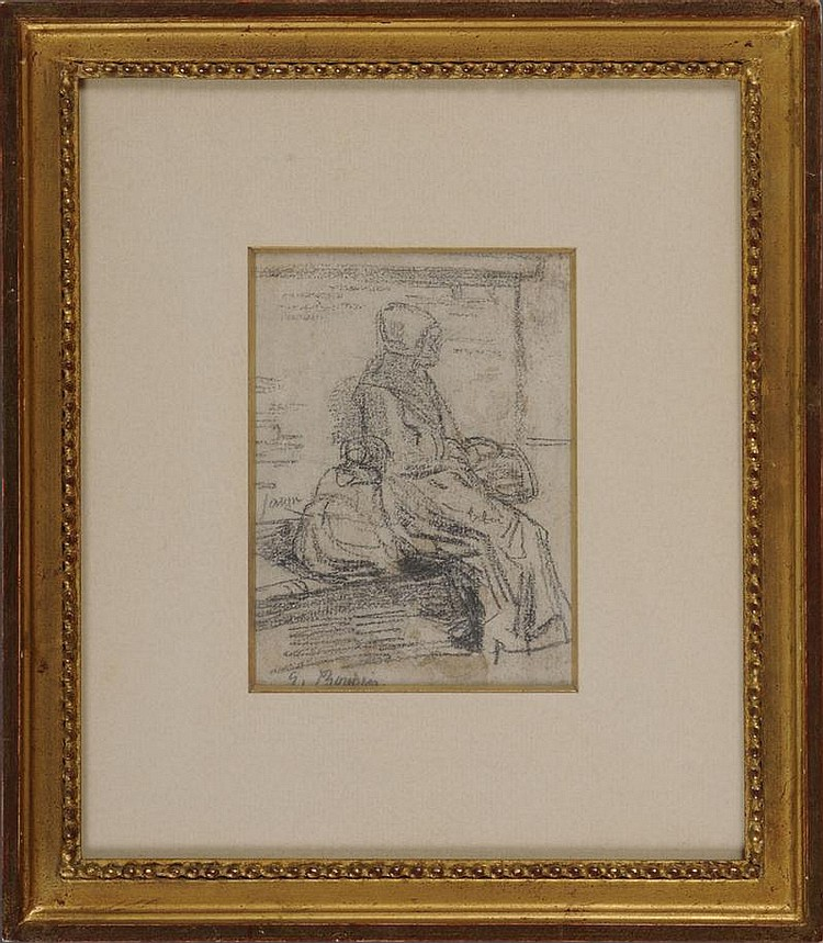 FRENCH SCHOOL: STUDY OF A SEATED WOMAN