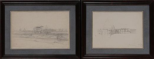 ACHILLE BENOUVILLE (1815-1891): TWO ITALIAN VIEWS
