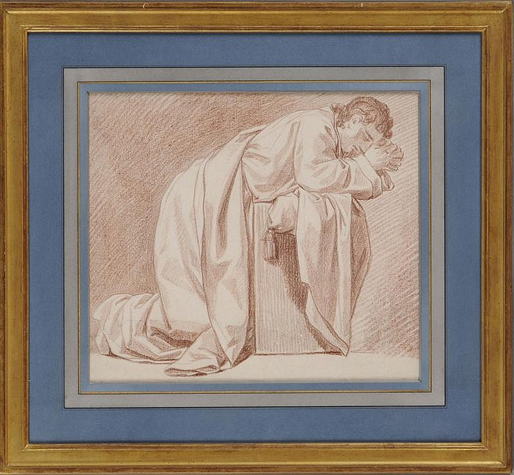 FRENCH SCHOOL: FIGURE KNEELING IN PRAYER