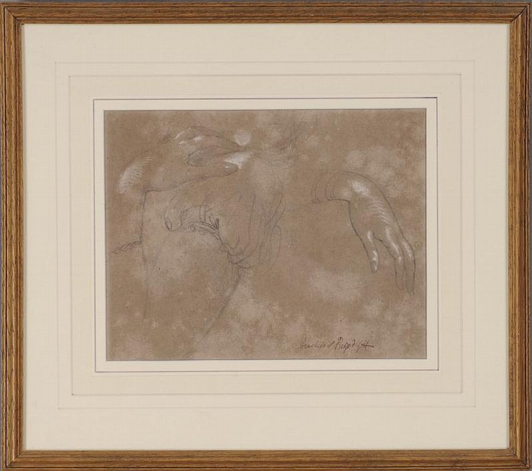 GEORGE HAYTER (1792-1871): STUDY OF THE DUCHESS OF BEDFORD'S HAND