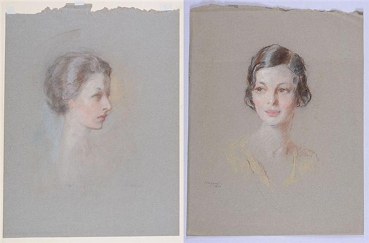 BEN ALI HAGGIN (1882-1951): TWO PORTRAITS