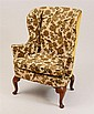 Queen Anne Walnut Wing Chair